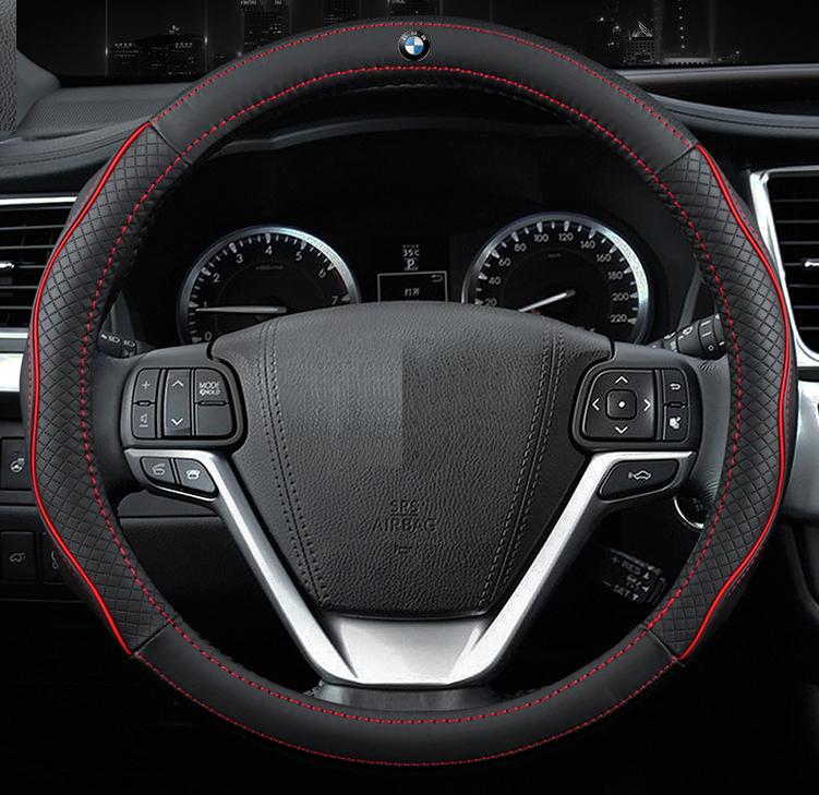 Чехол оплетка Circle Cool на руль для автомобиля BMW c логотипом