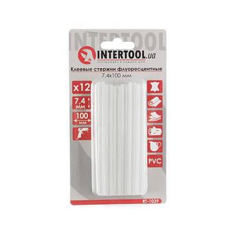 Комплект стрижнів клейових флуоресцентних 7,4 мм*100мм, 12 шт. INTERTOOL RT-1039