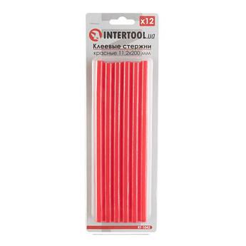 Комплект красных клеевых стержней 11.2мм*200мм, 12шт. INTERTOOL RT-1042