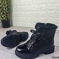 Женские ботинки зимние черные внутри густой мех код 165240, фото 1