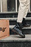 Женские зимние ботинки Dr.Martens лак черные(копия), фото 4
