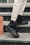 Женские зимние ботинки Dr.Martens лак черные(копия), фото 8