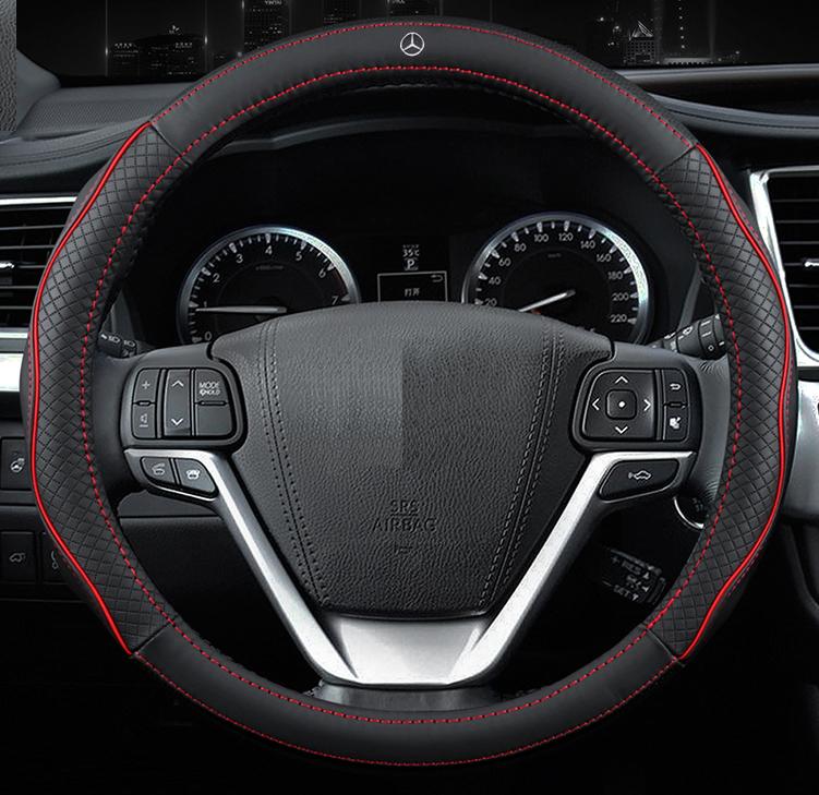 Чехол оплетка Circle Cool на руль для автомобиля Mercedes c логотипом