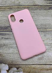 Xiaomi MiA2/ Mi6X чехол матовый цветной силиконовый розовый