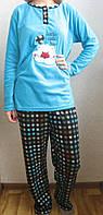 Пижама женская теплая с рисунком