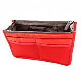 Органайзер для мелочей в авто или сумочку Bag in bag maxi красный, фото 2