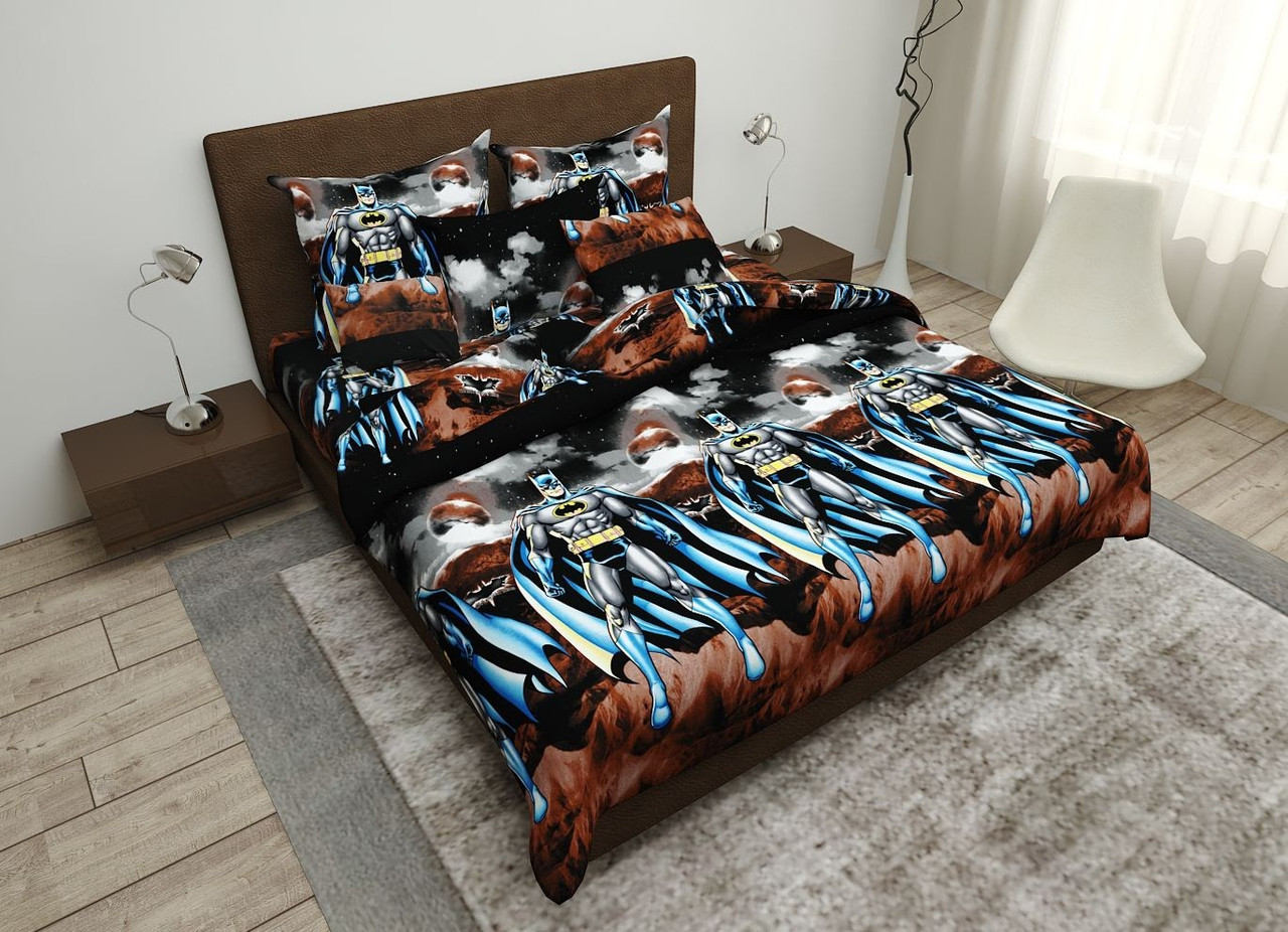 Двуспальный постельный комплект Бэтмен плащ