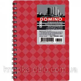 Тетрадь А6, 80 листов (серия DOMINO)ТА6380-ххх