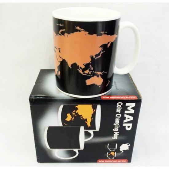 Чашка-хамелеон Карта мира