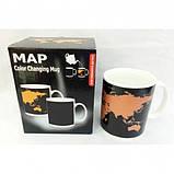 Чашка-хамелеон Карта мира, фото 2