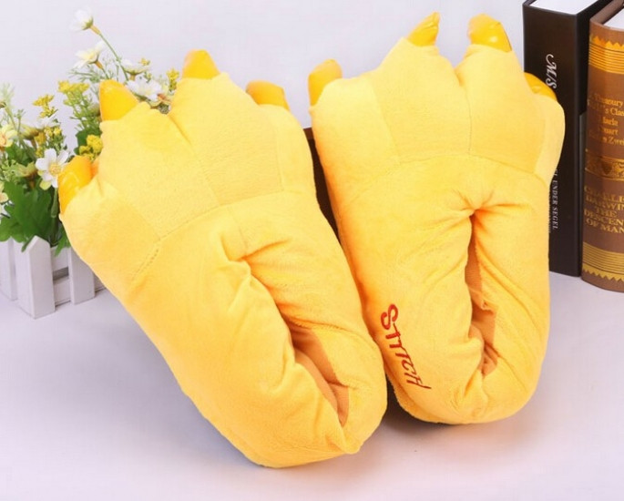 Домашние тапочки кигуруми Лапы Желтые
