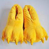 Домашние тапочки кигуруми Лапы Желтые, фото 5