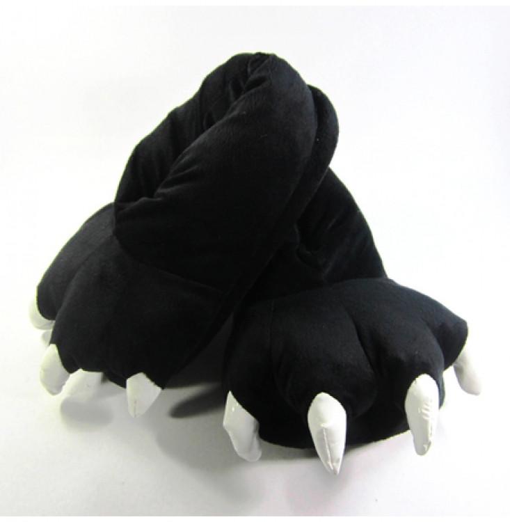Домашние тапочки кигуруми Лапы Черные