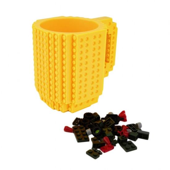Кружка Lego брендовий 350мл Yellow