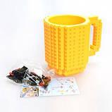Кружка Lego брендовий 350мл Yellow, фото 2