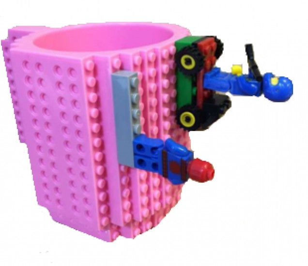 Кружка Lego брендовая 350мл Pink