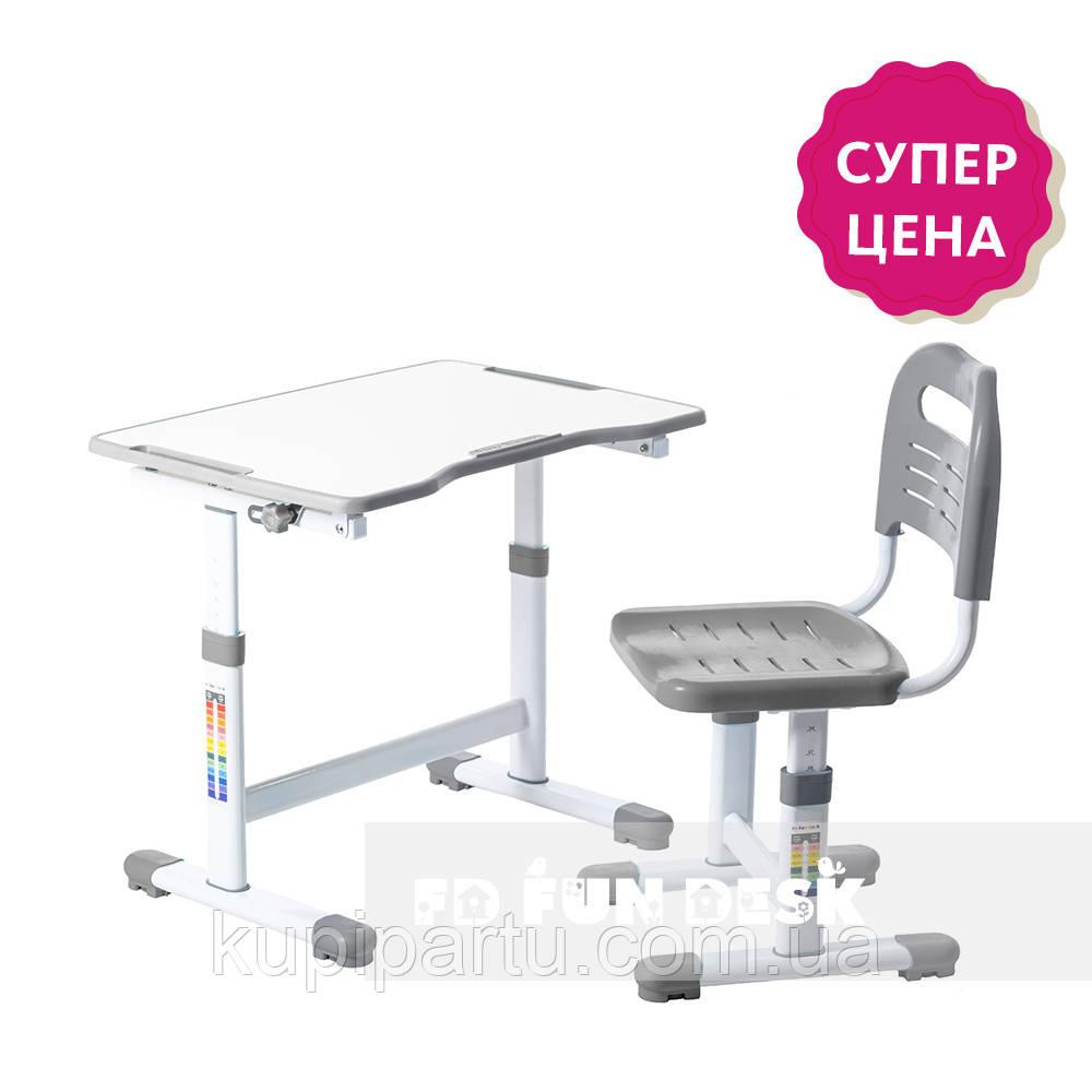 Комплект парта і стілець-трансформери FunDesk Sole II Grey-s