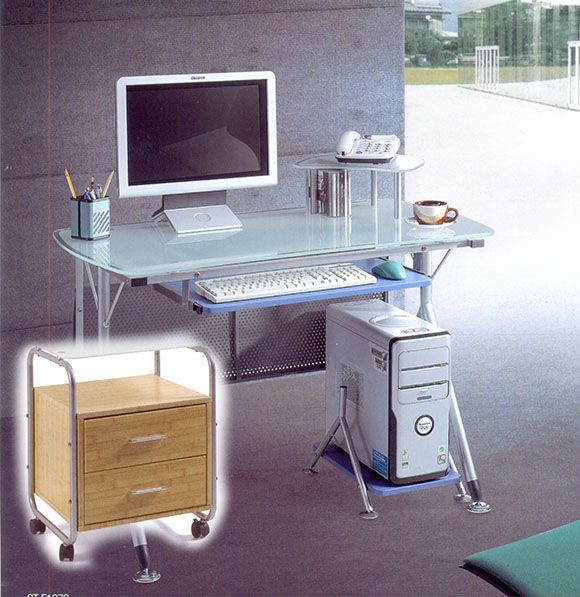 Комплект мебели: компьютерный стол KD-1072 + тумба Т-23