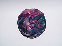 Тонкая шапка тюрбан с космическим рисунком