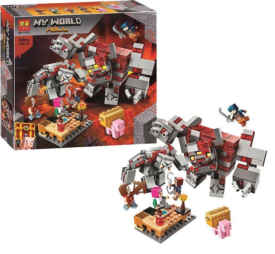 """Конструктор """"Minecraft  Битва за красную пыль"""" Lari 528 дет 11514"""