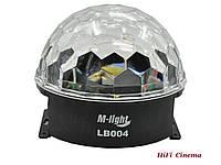 Световой прибор M-Light LB-004 вращающийся светодиодный диско-шар RGB 3 x 3Вт, фото 1