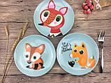Детская тарелочка Striped fox, фото 2