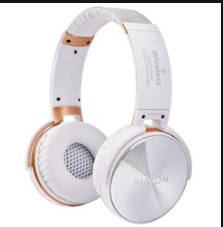 Навушники AZ-008 (bluetooth+stereo+mp3-player+гарнітура) white безпровідні