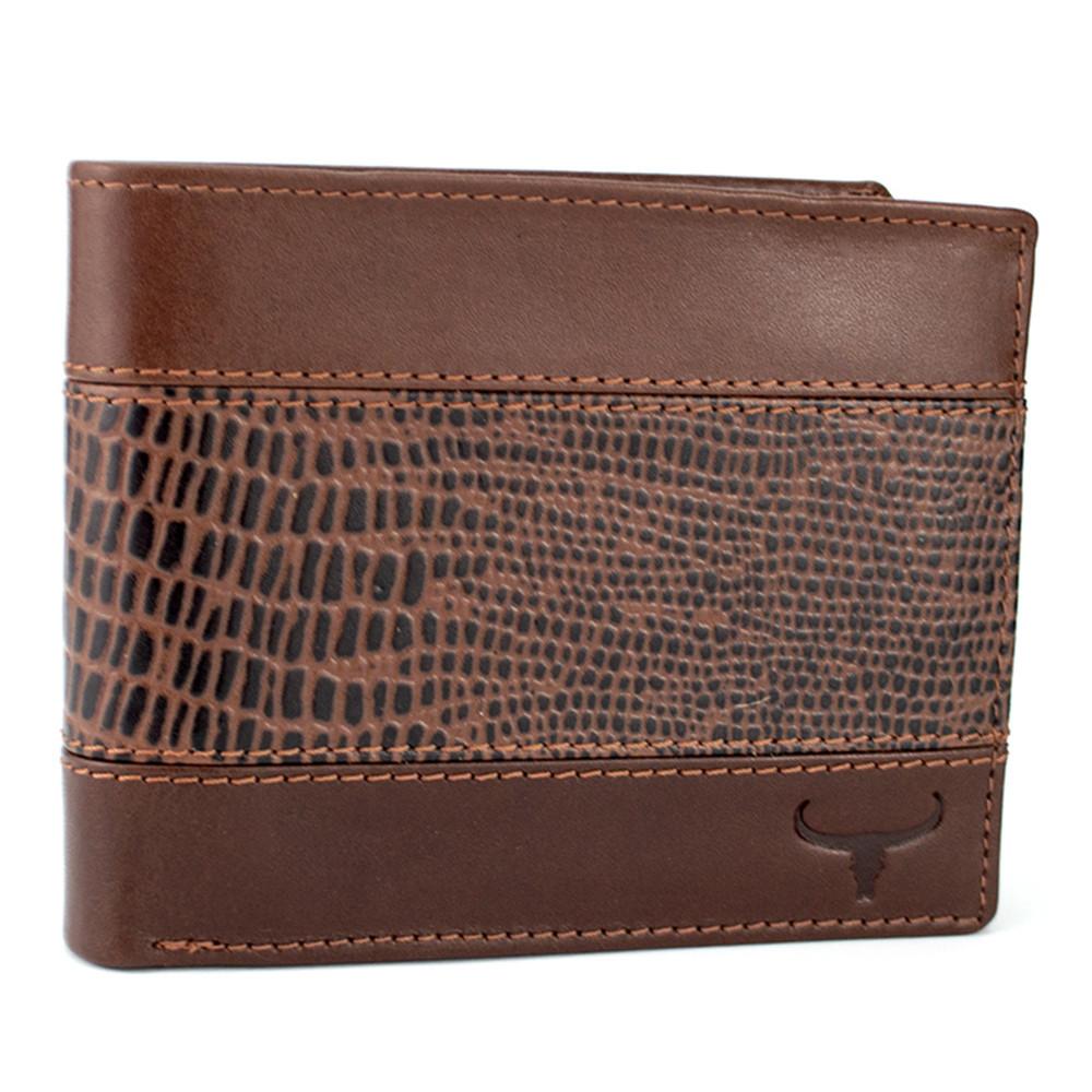 Мужское кожаное портмоне коричневое без кнопки Always Wild N992-VTC Brown