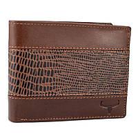 Мужское кожаное портмоне коричневое без кнопки Always Wild N992-VTC Brown, фото 1