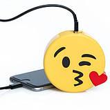Универсальная портативная батарея Power Bank emoji Kiss, фото 3
