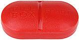 Контейнер для таблеток на 6 отделений красный, фото 3