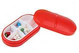 Контейнер для таблеток на 6 отделений красный, фото 5
