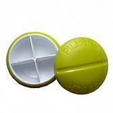 Контейнер для таблеток на 4 відділення зелений, фото 2