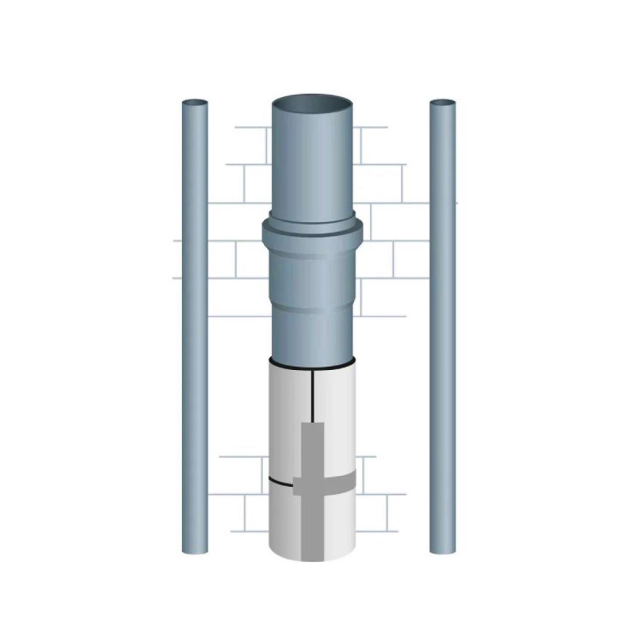 Шумоизоляция труб канализации 110 мм (9 мм)