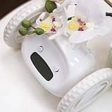 Убегающий будильник на колесиках White, фото 2