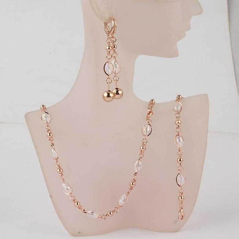 Комплект прикрас намисто, сережки і браслет код 716