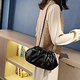 Модная женская сумка клатч черная код 3-472, фото 5