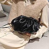 Модная женская сумка клатч черная код 3-472, фото 8