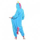 Пижама Кигуруми Единорог S (голубой), фото 2