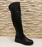 Сапоги ботфорты женские черные зимние натуральная кожа С933, фото 2