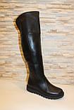 Сапоги ботфорты женские черные зимние натуральная кожа С933, фото 3