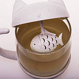 Чашка Котик с заварником рыбкой, фото 3