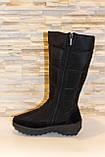 Сапоги дутики женские зимние черные высокие С626, фото 2