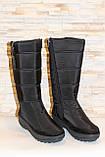 Сапоги дутики женские зимние черные высокие С626, фото 3