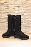 Сапоги дутики женские зимние черные высокие С626, фото 4