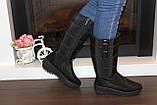Сапоги дутики женские зимние черные высокие С626, фото 7
