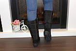 Сапоги дутики женские зимние черные высокие С626, фото 8