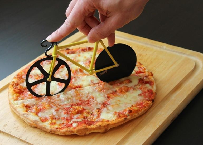 Ніж для піци жовтий Велосипед