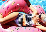 Надувний круг Пончик Pink 120см, фото 2