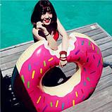 Надувной круг Пончик Pink 120см, фото 3